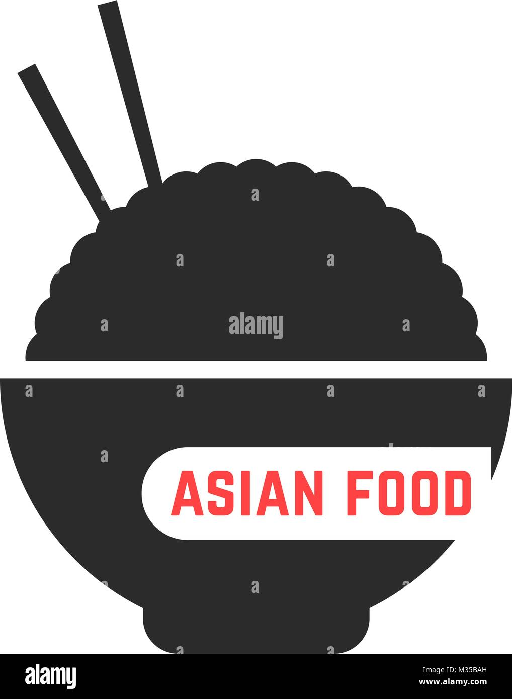 simple asian food logo - Stock Vector
