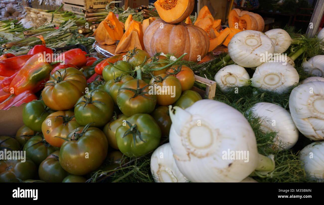 Palermo, Sicily, Italy - food market Stock Photo