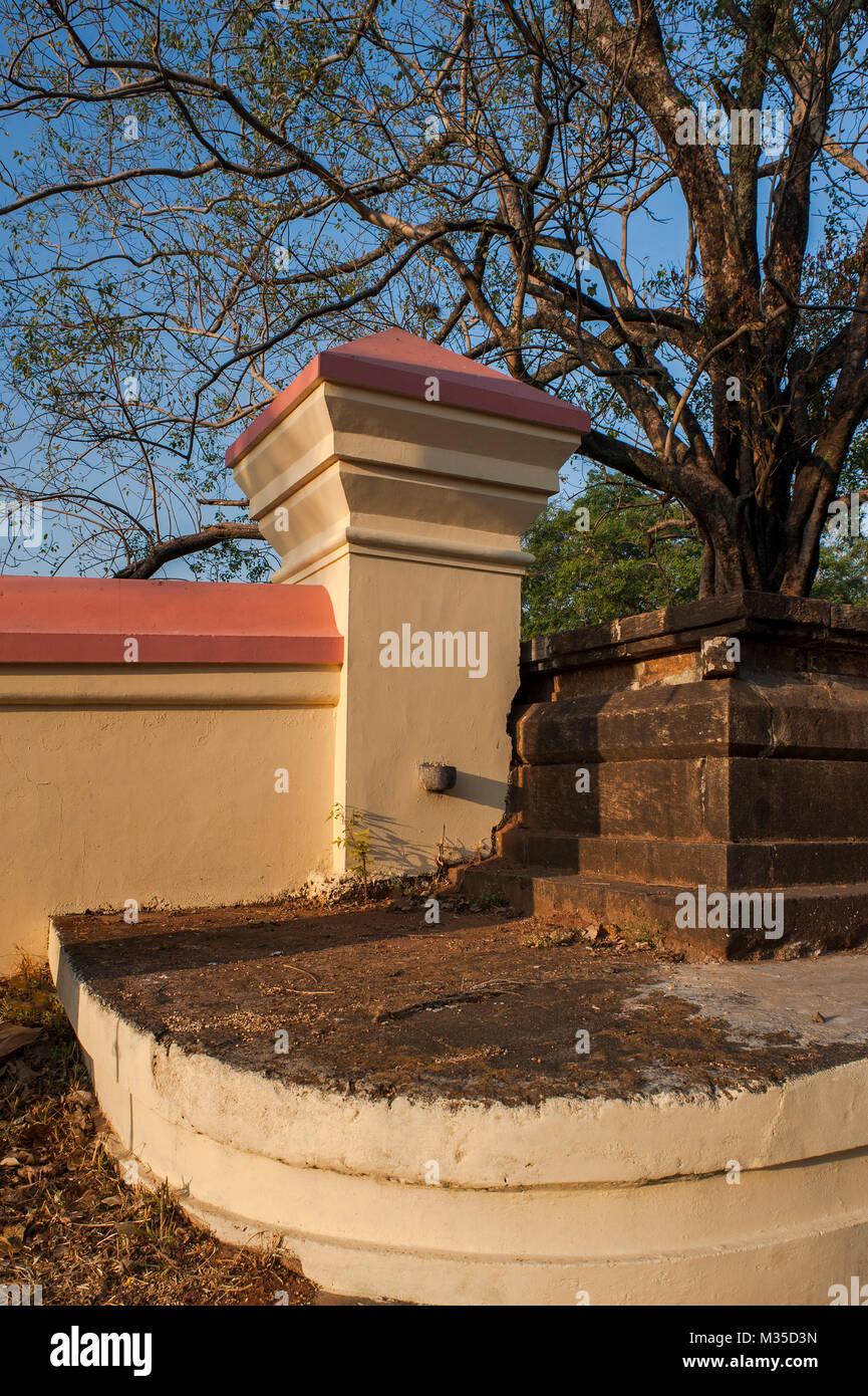 Compound wall vadakkumnathan shiva temple thrissur kerala india asia stock
