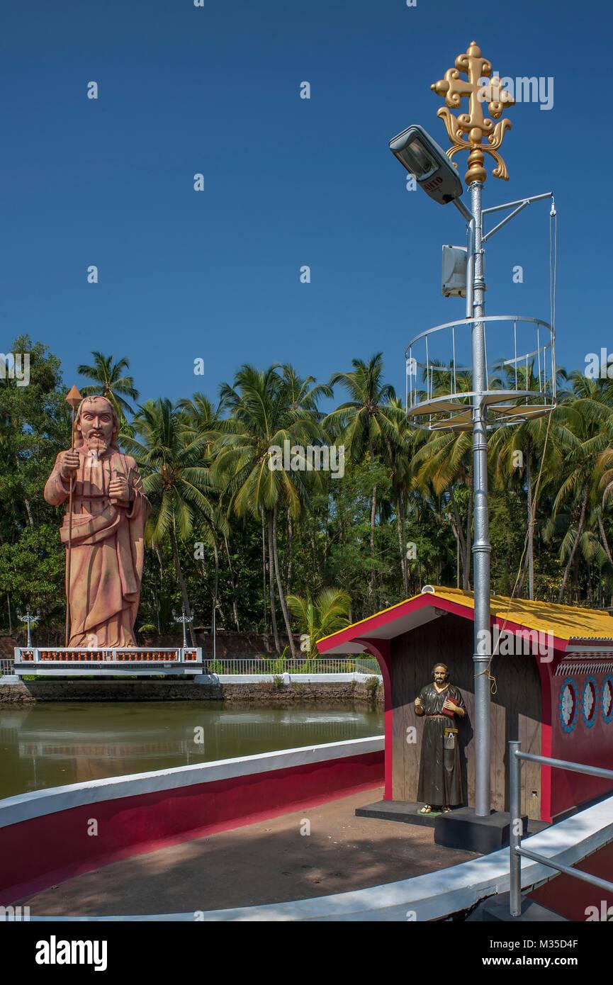 St Thomas Statue, Palayoor, Thrissur, Kerala, India, Asia - Stock Image