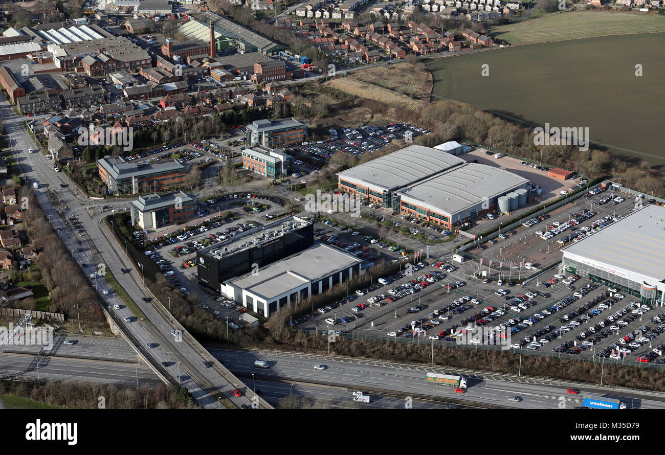 aerial view of Capitol Boulevard, Leeds,UK - Stock Image