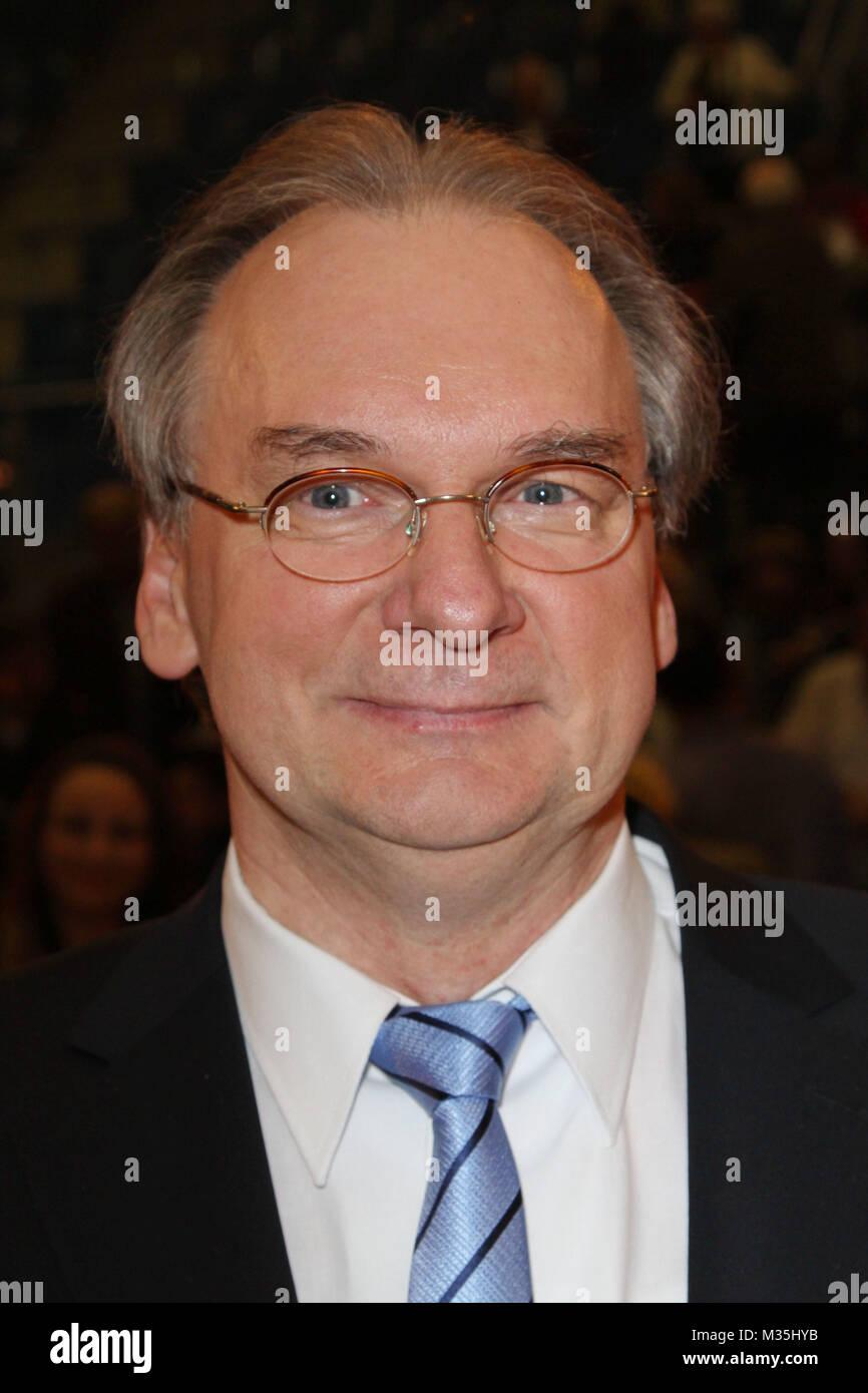 Sachsen-Anhalts Regierungschef Reiner Haseloff, Das Fruehlingsfest der 100000 Blueten mit Florian Silbereisen in Stock Photo