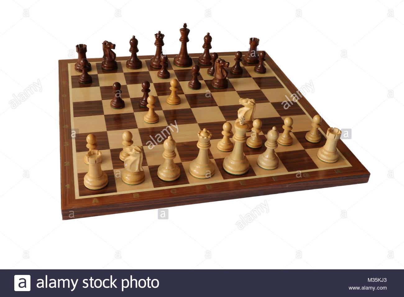 Chess opening. Blumenfeld Gambit. - Stock Image