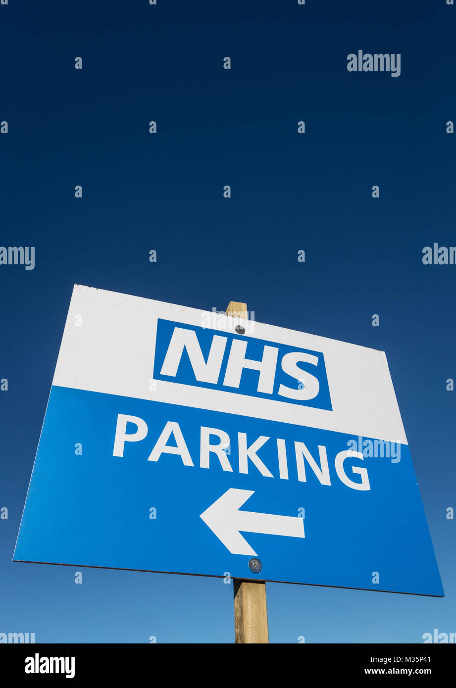 NHS car parking sign - Stock Image