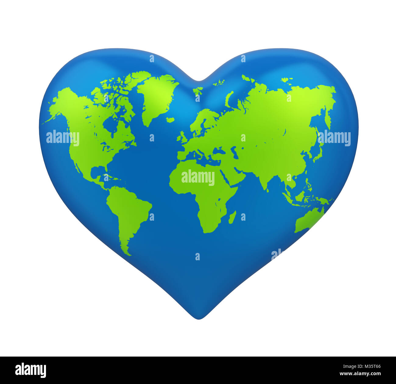 Heart shaped world map stock photos heart shaped world map stock heart shaped earth isolated stock image gumiabroncs Gallery