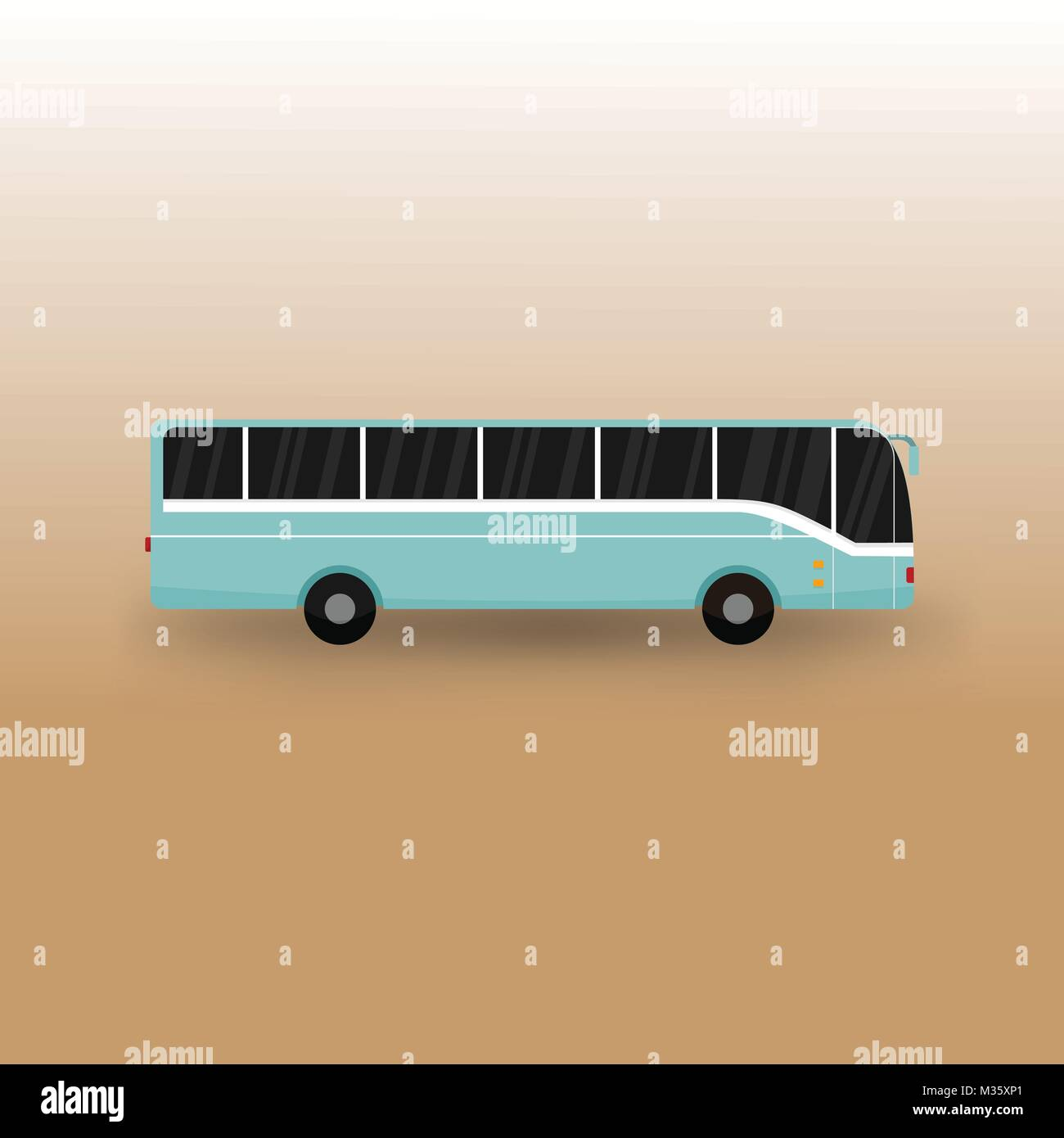 Public Bus Transportation Vector Illustration Graphic Design - Stock Image