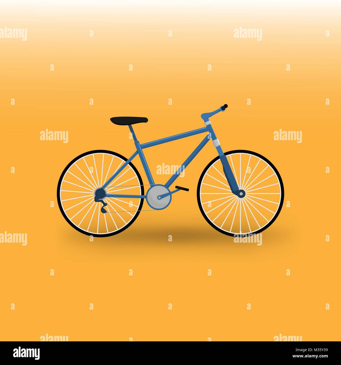 Mountain Bike Bicycle Vector Illustration Graphic Design - Stock Image