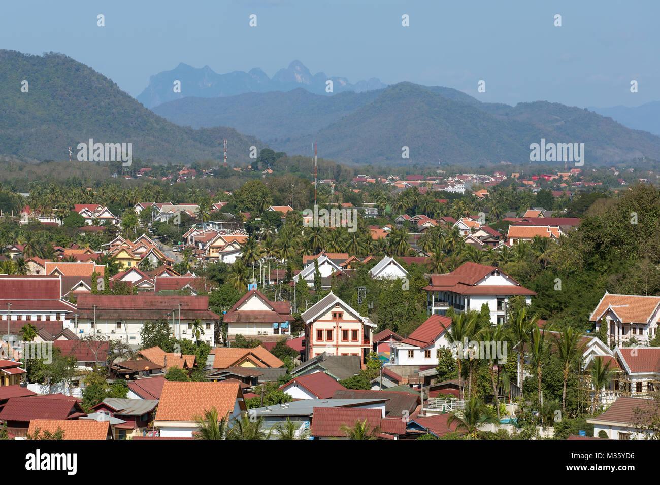 Top view of Luang Prabang, Laos Stock Photo