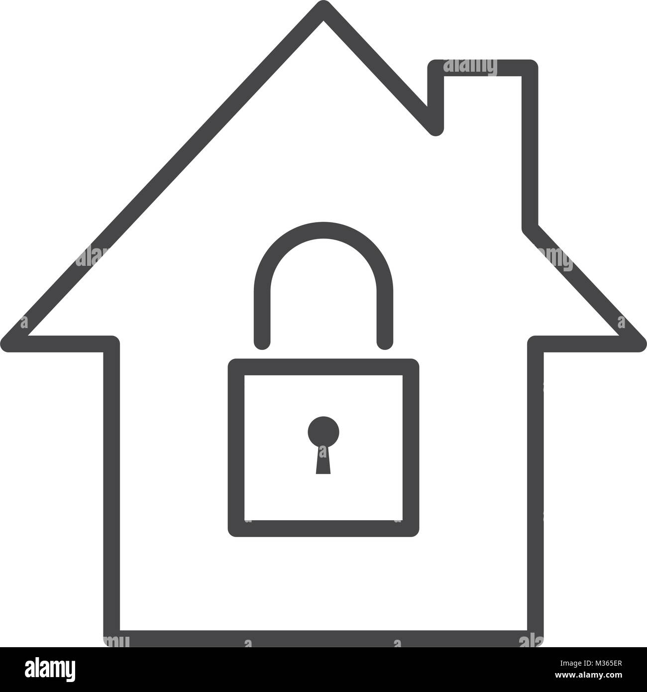 Secure house symbol - Stock Vector