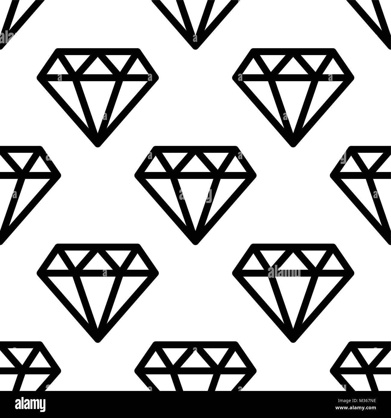 Hipster Diamond Pattern Abstract Shapes Seamless Vector
