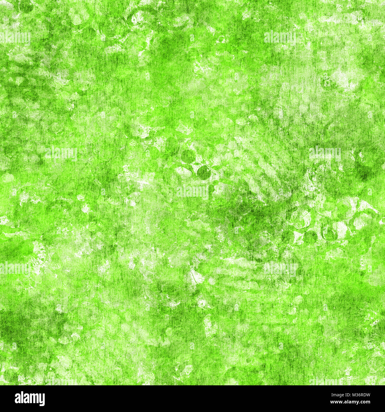 Seamless abstract green background texture - Stock Image