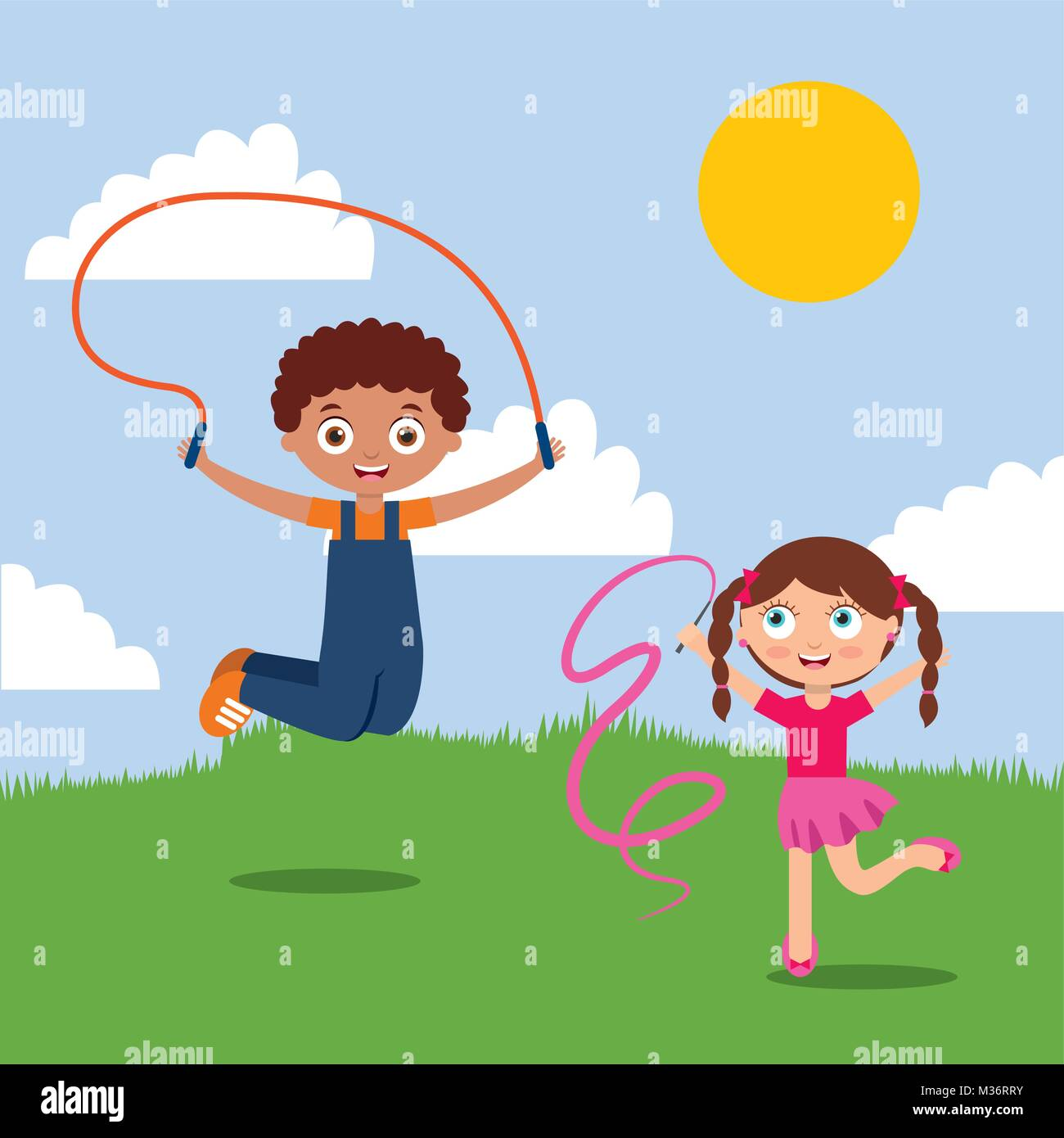 30+ Kids Playing Outside Cartoon Images PNG