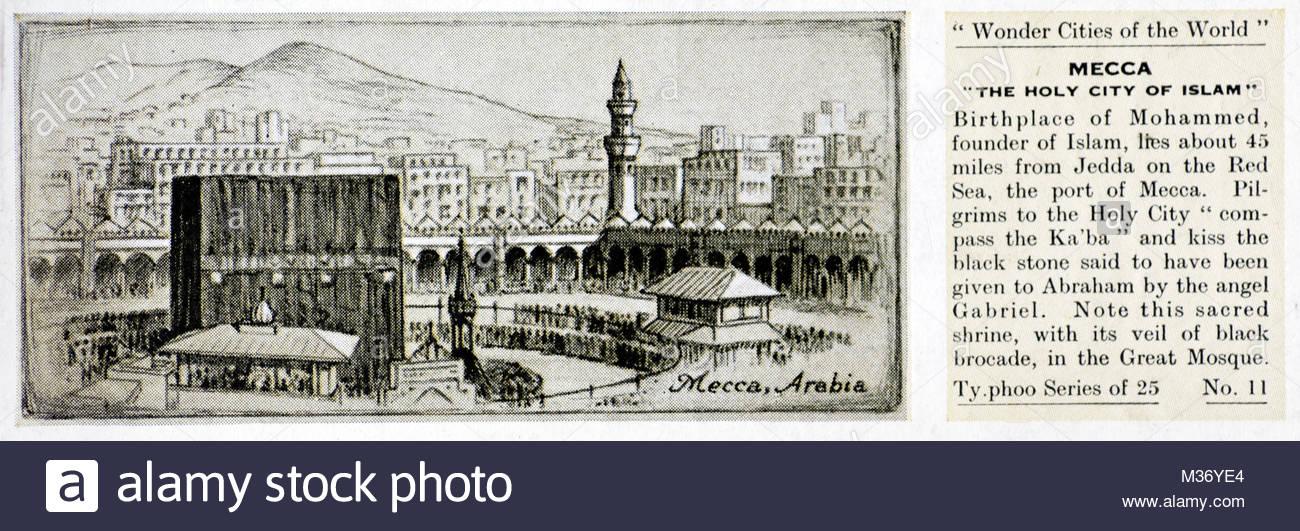 Wonder cities of the World - Mecca, Saudi Arabia Stock Photo