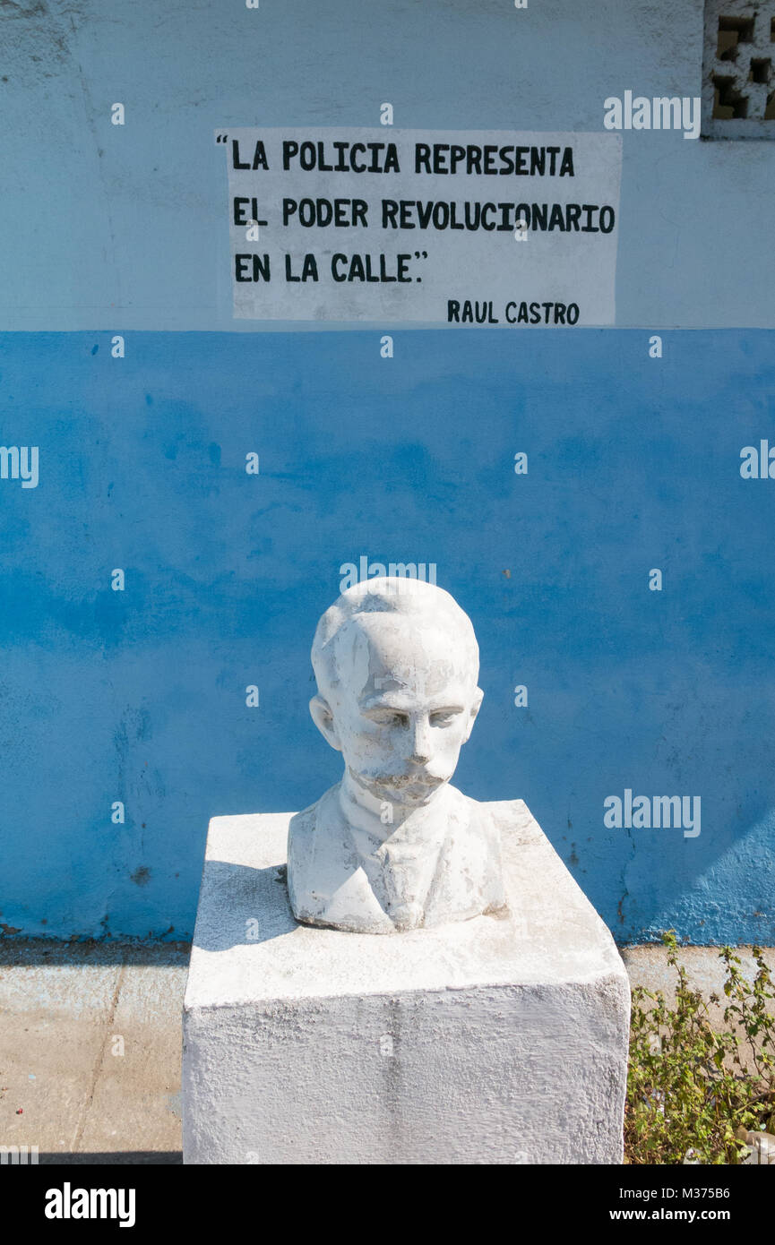 Monument to Jose Marti, the cuban National hero at the Revolution Square in Cienfuegos - Stock Image