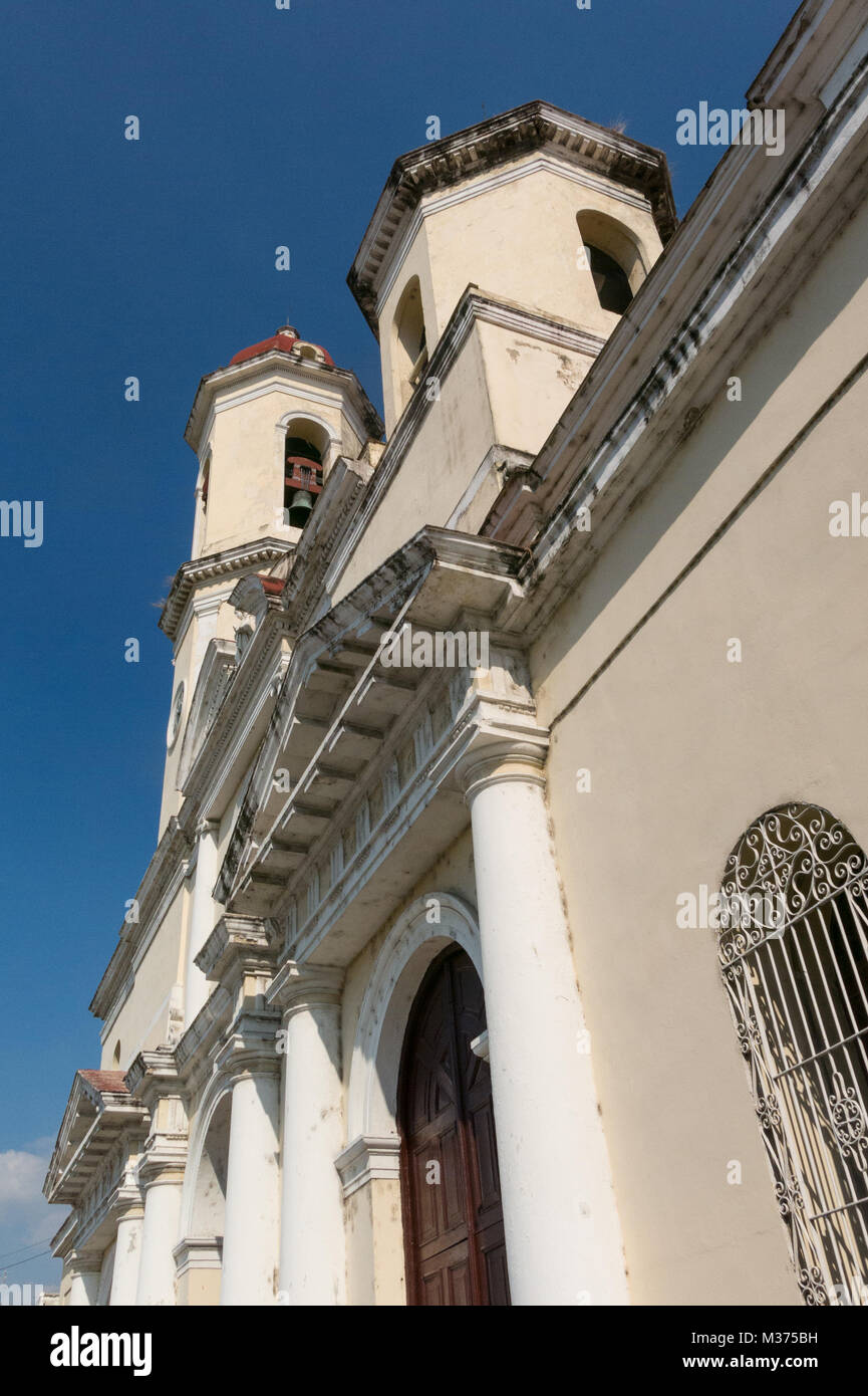 Cienfuegos, Cuba - Cathedral of the Immaculate Conception, in Jose Marti square. Cienfuegos city, Cuba. - Stock Image