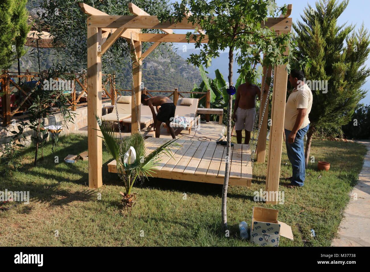 Wood Resort Seat Seating Stock Photos & Wood Resort Seat Seating ...