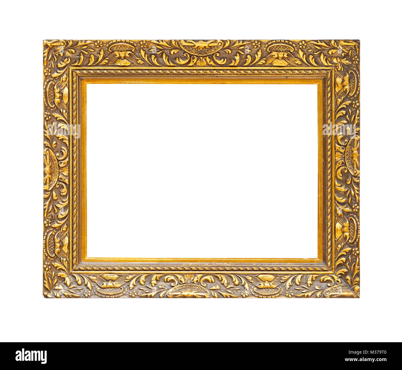 a506ff677d4d Rustic Gold Frame Isolated On White Stock Photo 174109040 Alamy