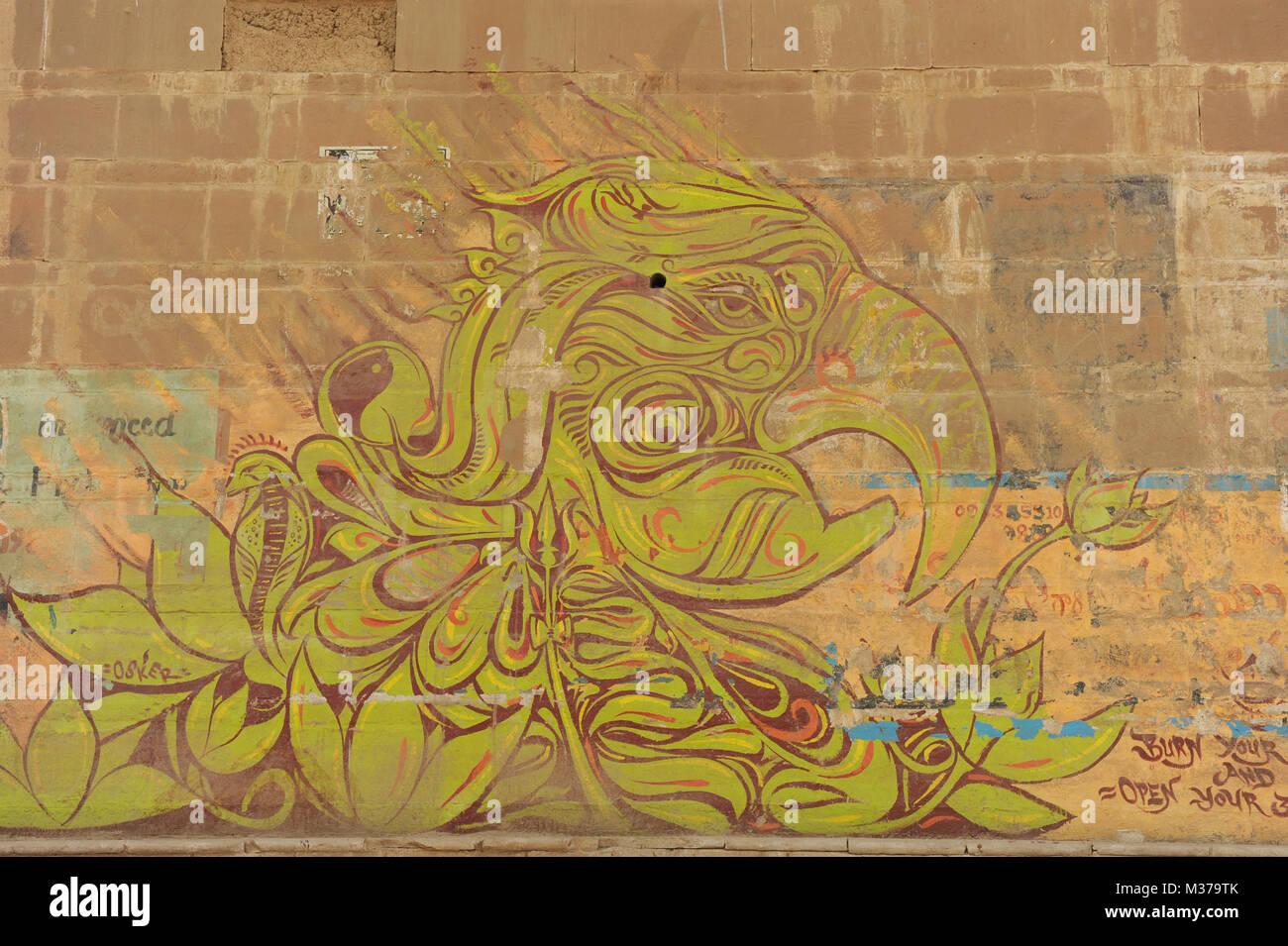 Indian Street Art Wall Stock Photos & Indian Street Art Wall Stock ...