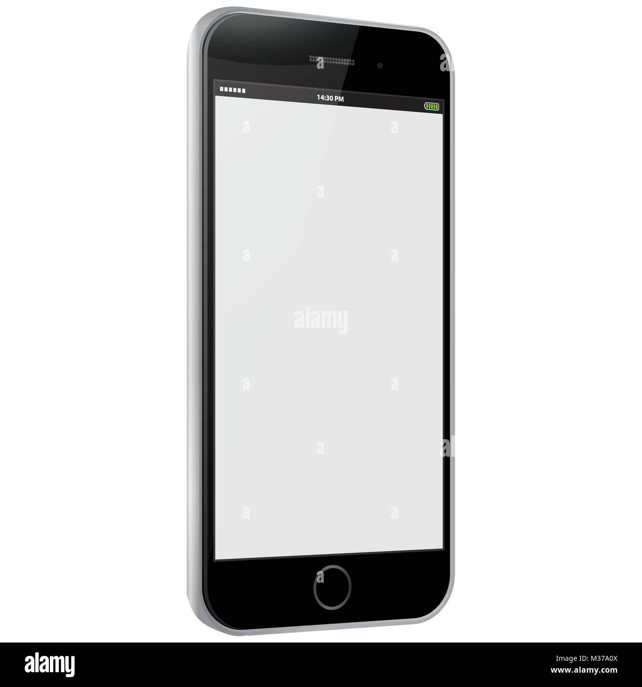 Mobile Phone Side View Vector illustration. - Stock Image