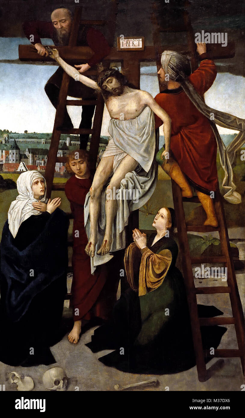 triptych of the descent from the cross stock photos triptych of