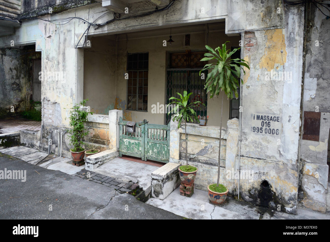 Kuala Lumpur, Malaysia - November 1, 2014: Facade of the old house in colonial style on one of streets of Kuala - Stock Image