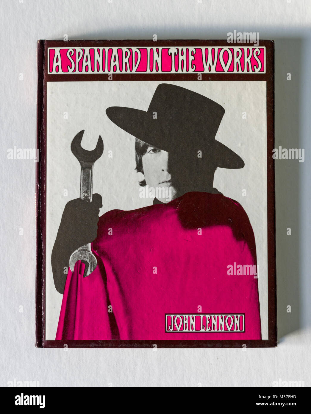 A Spaniard In The Works, a book by Beatle John Lennon, published in 1965, consisting  of whimsical stories and drawings. - Stock Image