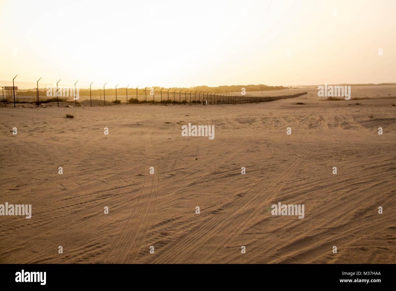 Desert landscape in Kuwait. - Stock Image