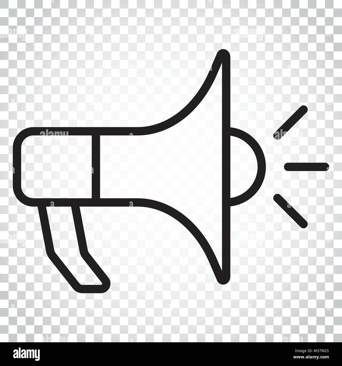 Megaphone flat vector icon. Bullhorn symbol logo illustration. Business concept simple flat pictogram on isolated - Stock Vector