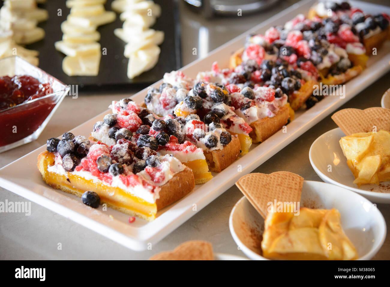 Dessert buffet - Stock Image