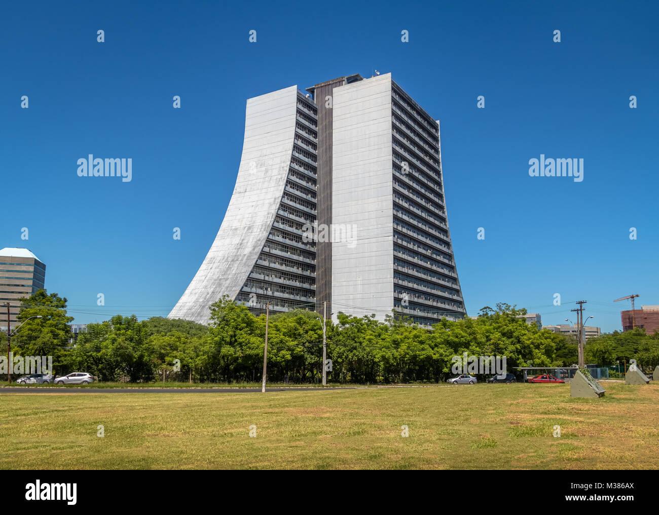 Rio Grande do Sul Adminitrative Building or Centro Administrativo Fernando Ferrari (CAFF) - Porto Alegre, Rio Grande - Stock Image