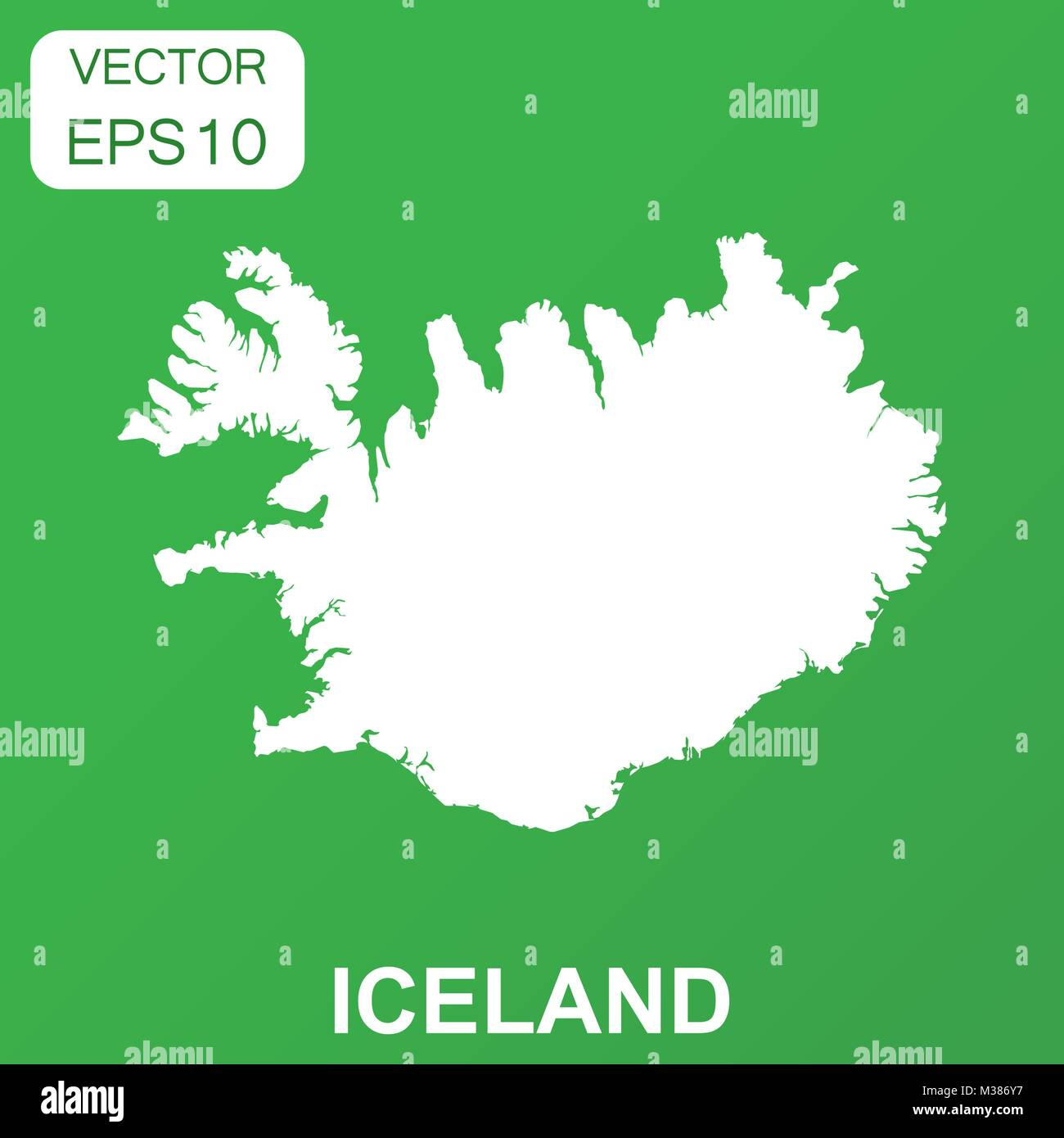 Iceland Map Vector Stock Photos & Iceland Map Vector Stock Images ...