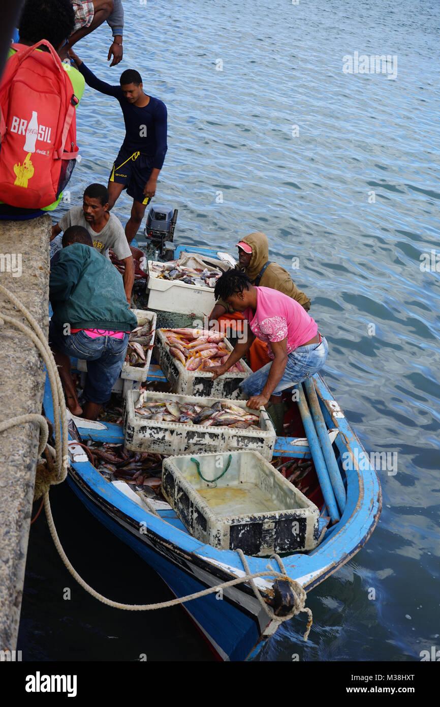 Mindelo, Insel Sao Vincente, Ilhas de Barlavento, Kapverdische Inseln, Kap Verde, Afrika Stock Photo