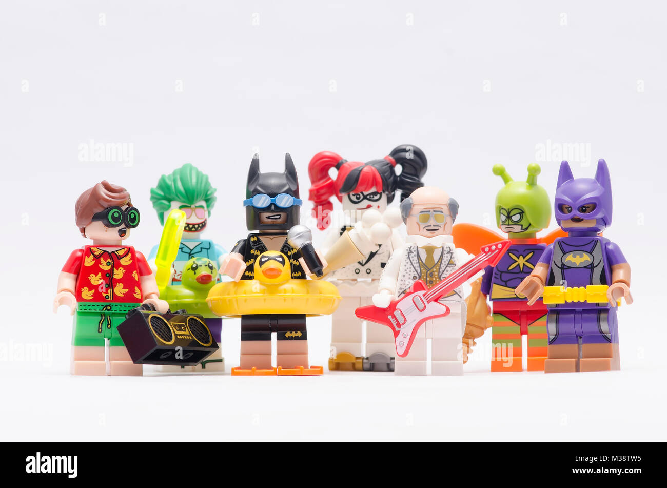 Lego Batman And Others Character Isolated On White Background