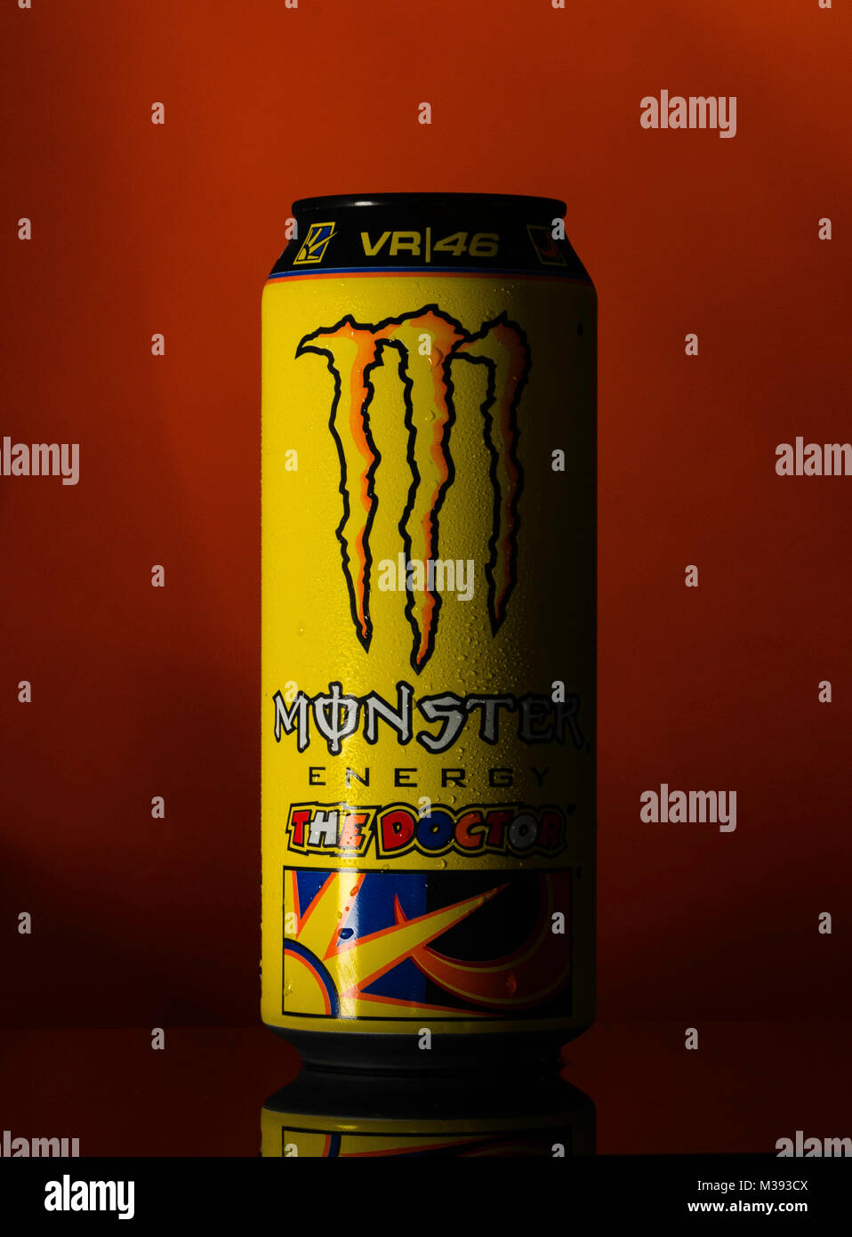 Monster Energy Drink Valentino Rossi Limited Edition - Stock Image
