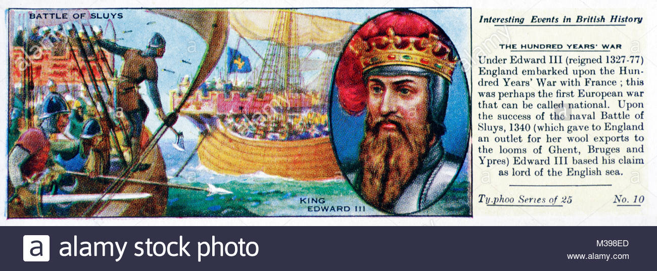 Interesting Events in British History - The Hundred Years war - Stock Image