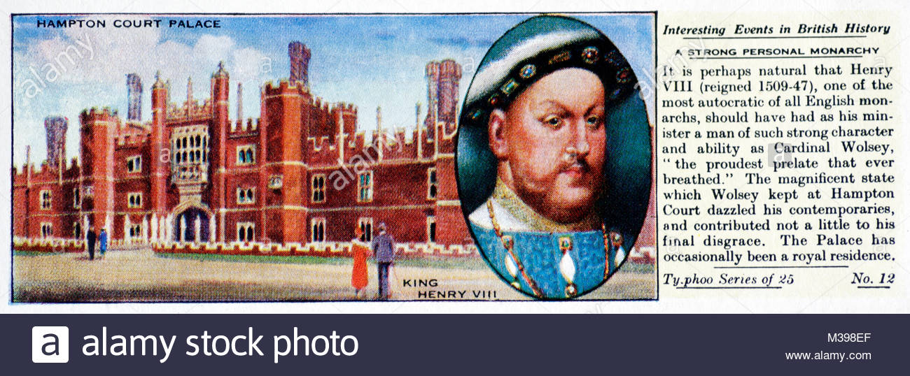 Interesting Events in British History - A Strong Personal Monarchy - Stock Image