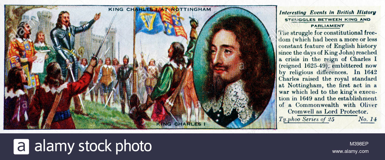 Interesting Events in British History - Struggles between King and Parliament - Stock Image