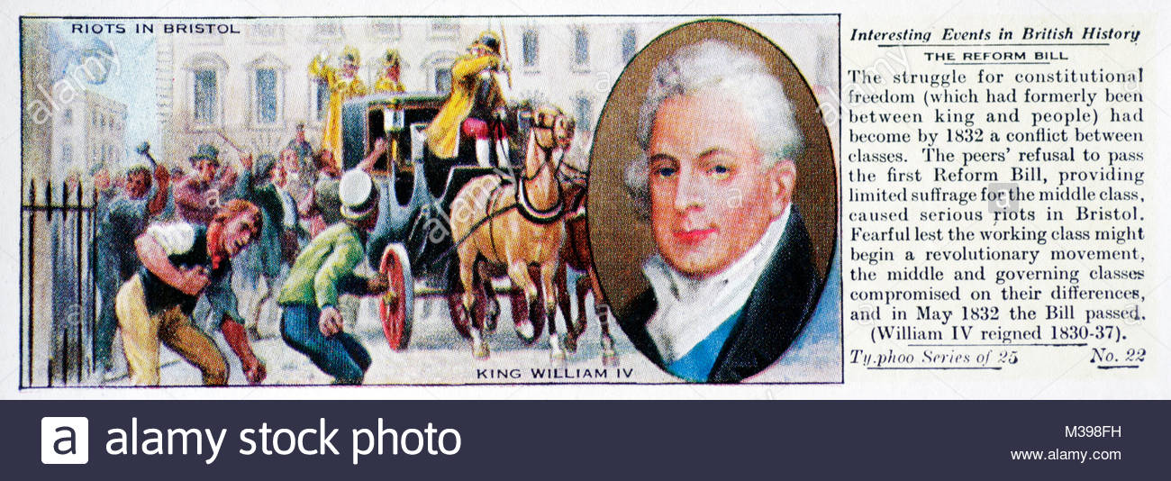 Interesting Events in British History - The Reform Bill - Stock Image