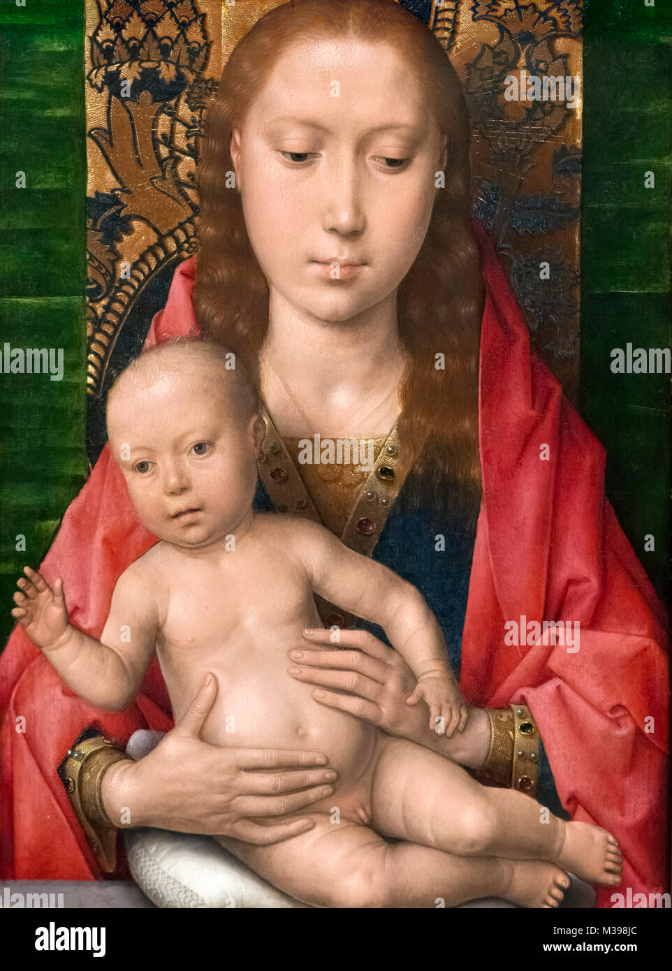 Virgin and Child by Hans Memling (c.1430-1494), oil on oak panel, c.1475 - Stock Image