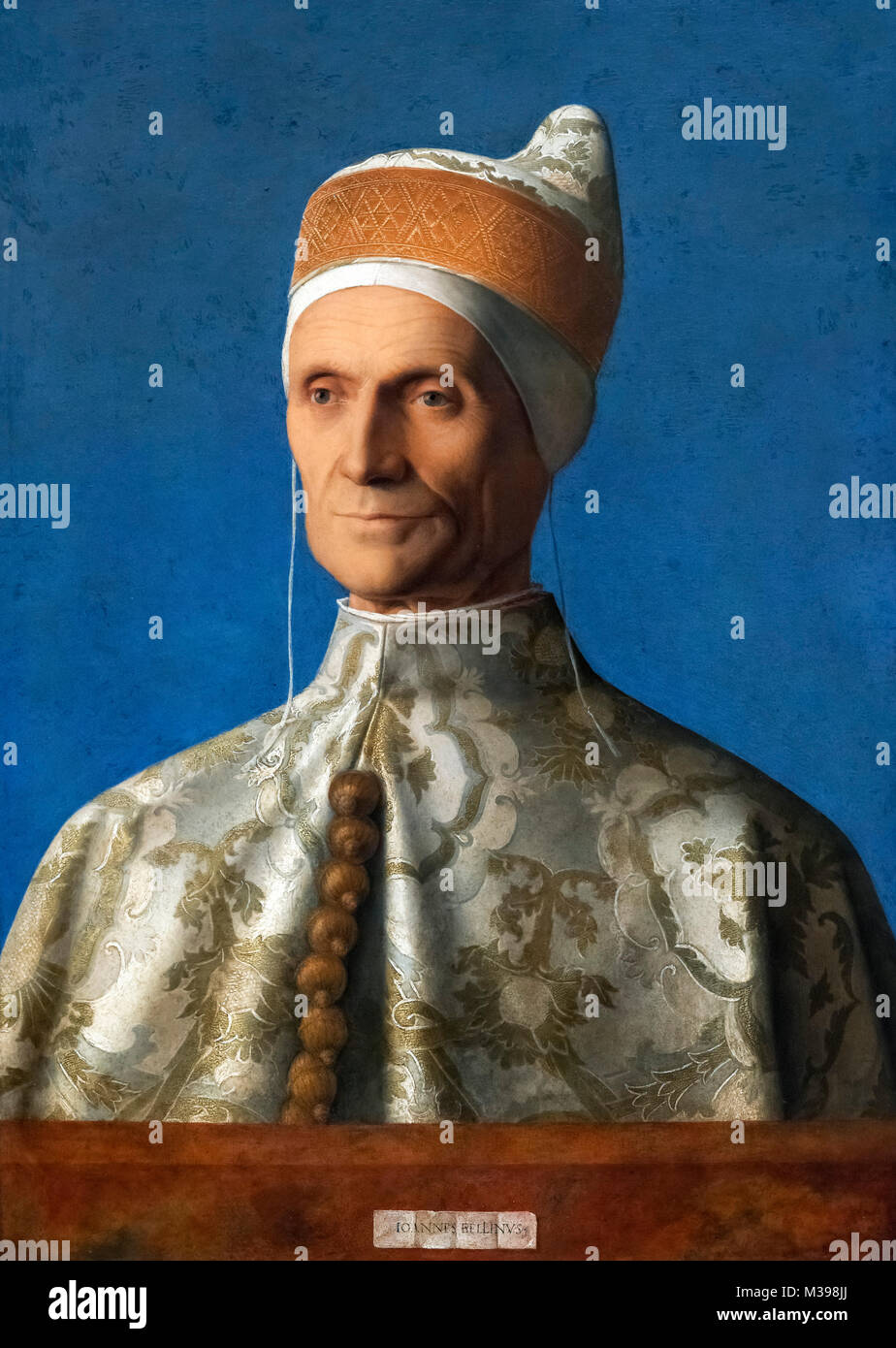 Doge Leonardo Loredan by Giovanni Bellini (c.1435-1516), oil on poplar, c.1501/2 - Stock Image