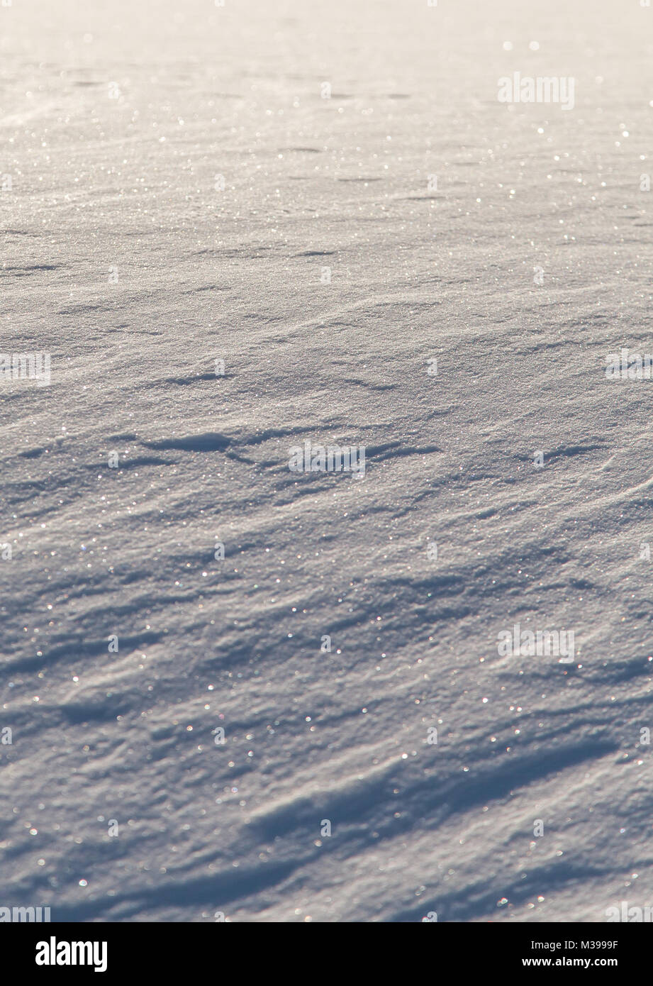 Wind painted Snow Texture Pattern Background - Stock Image