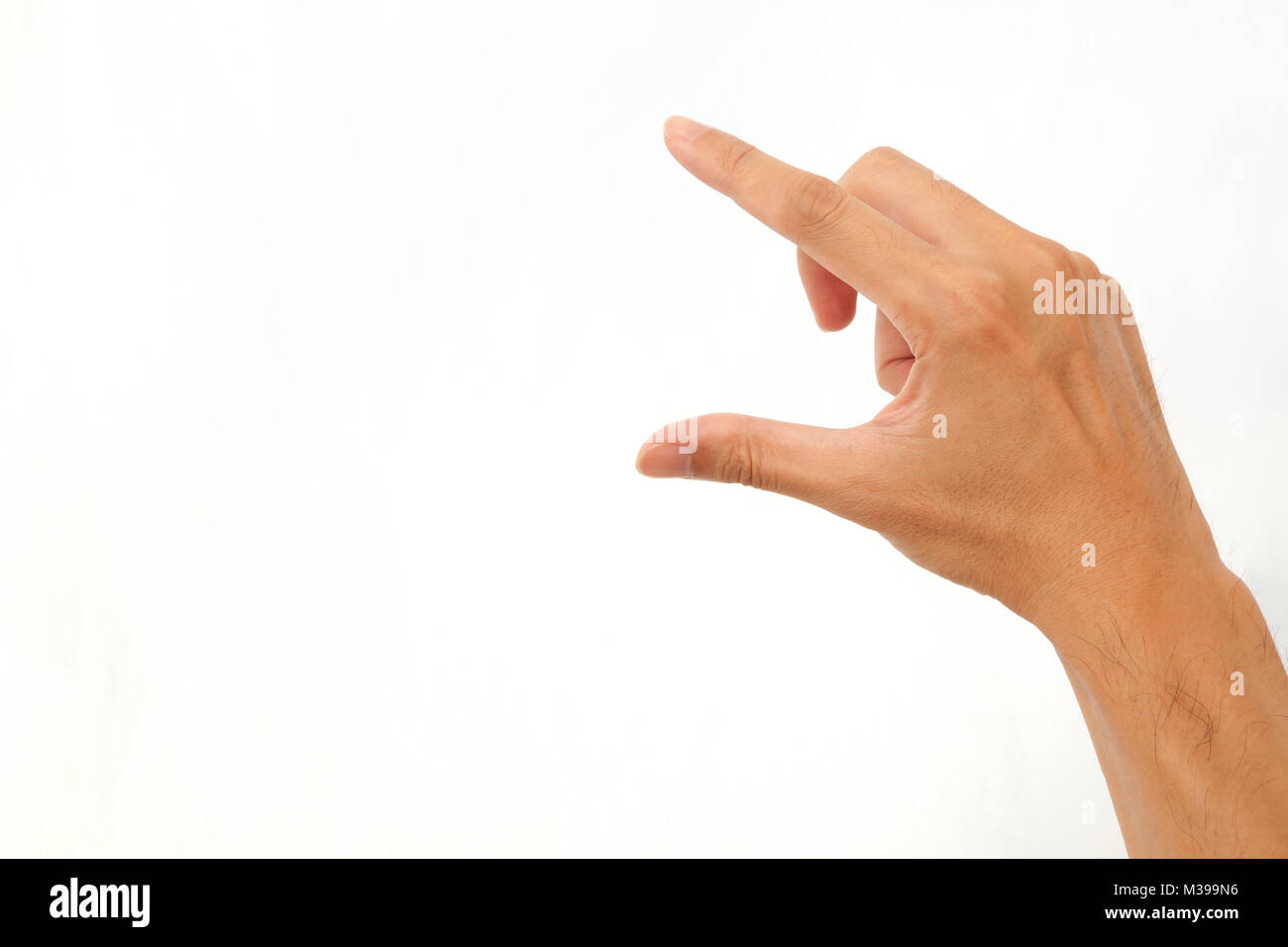 Hands to operate the touch panel - Stock Image