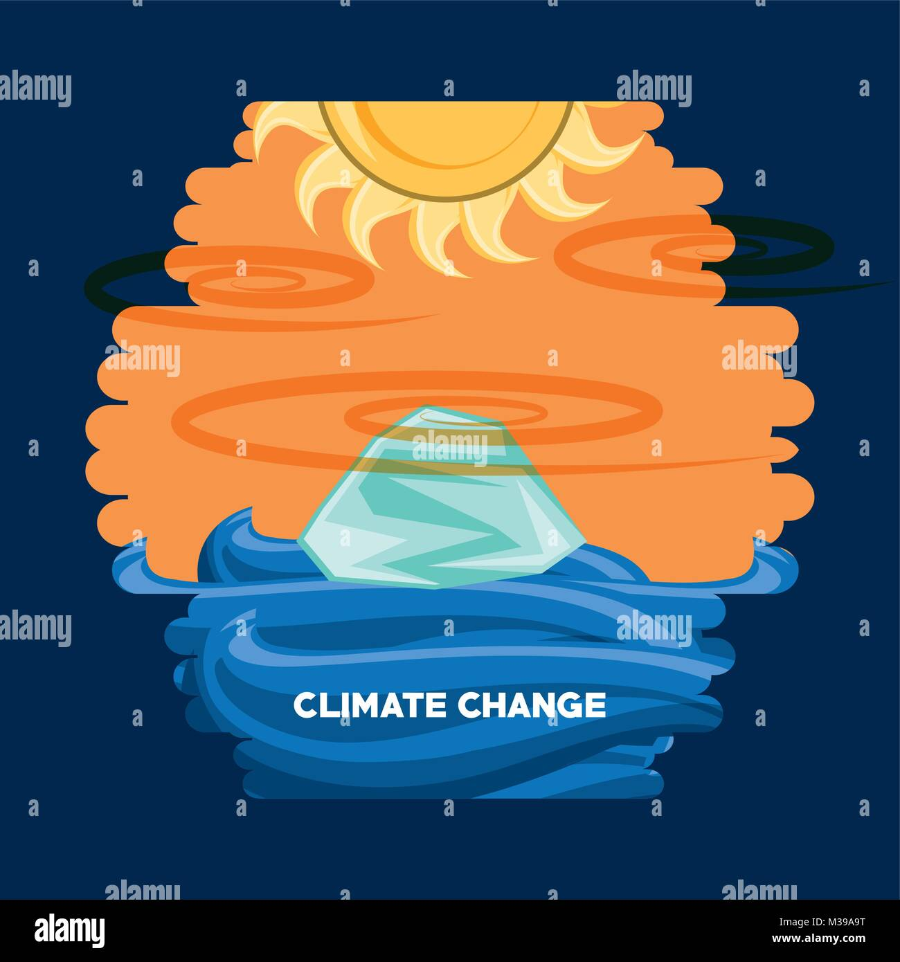 Climate change design - Stock Vector