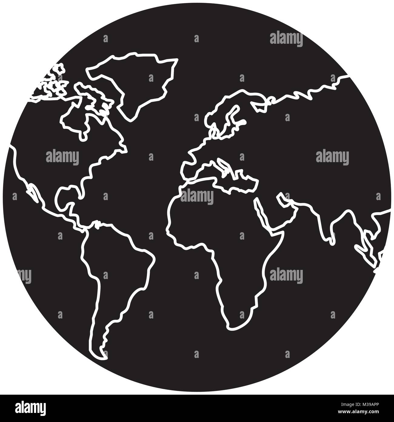 Earth planet world globe map icon stock vector art illustration earth planet world globe map icon gumiabroncs Images