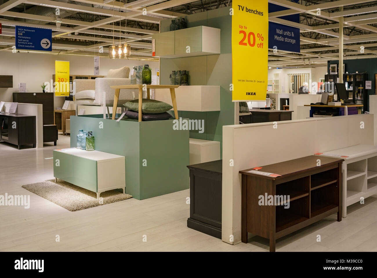 Marvelous Los Angeles, DEC 28: Interior View Of The Famous IKEA Furniture Stores On  DEC 28, 2017 At Los Angeles, California