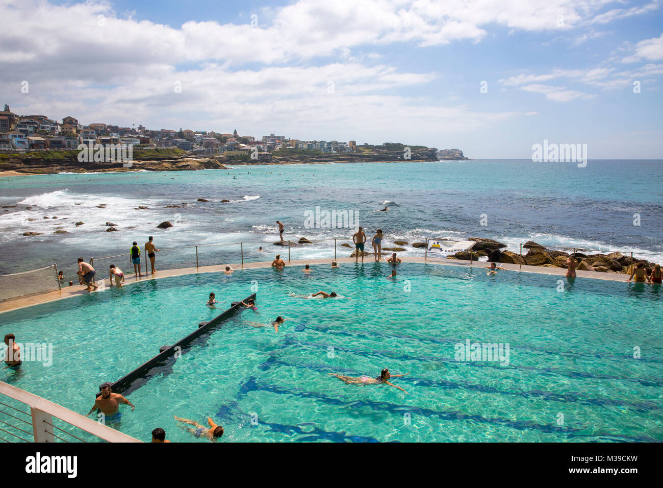 Swimming pool changing rooms and facilities at Bronte beach ocean ...