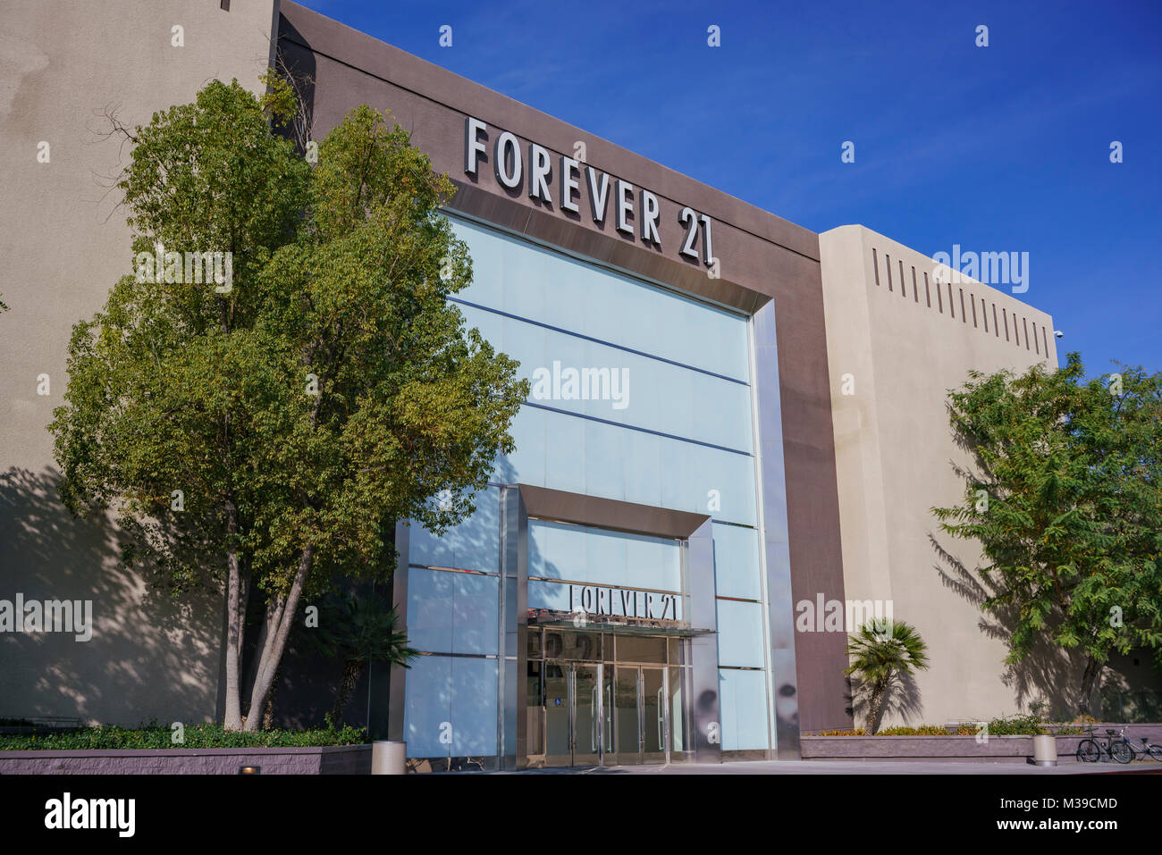 Los Angeles, JAN 7: Exterior view of the famous Forever 21 on JAN 7, 2018 at Los Angeles, California - Stock Image