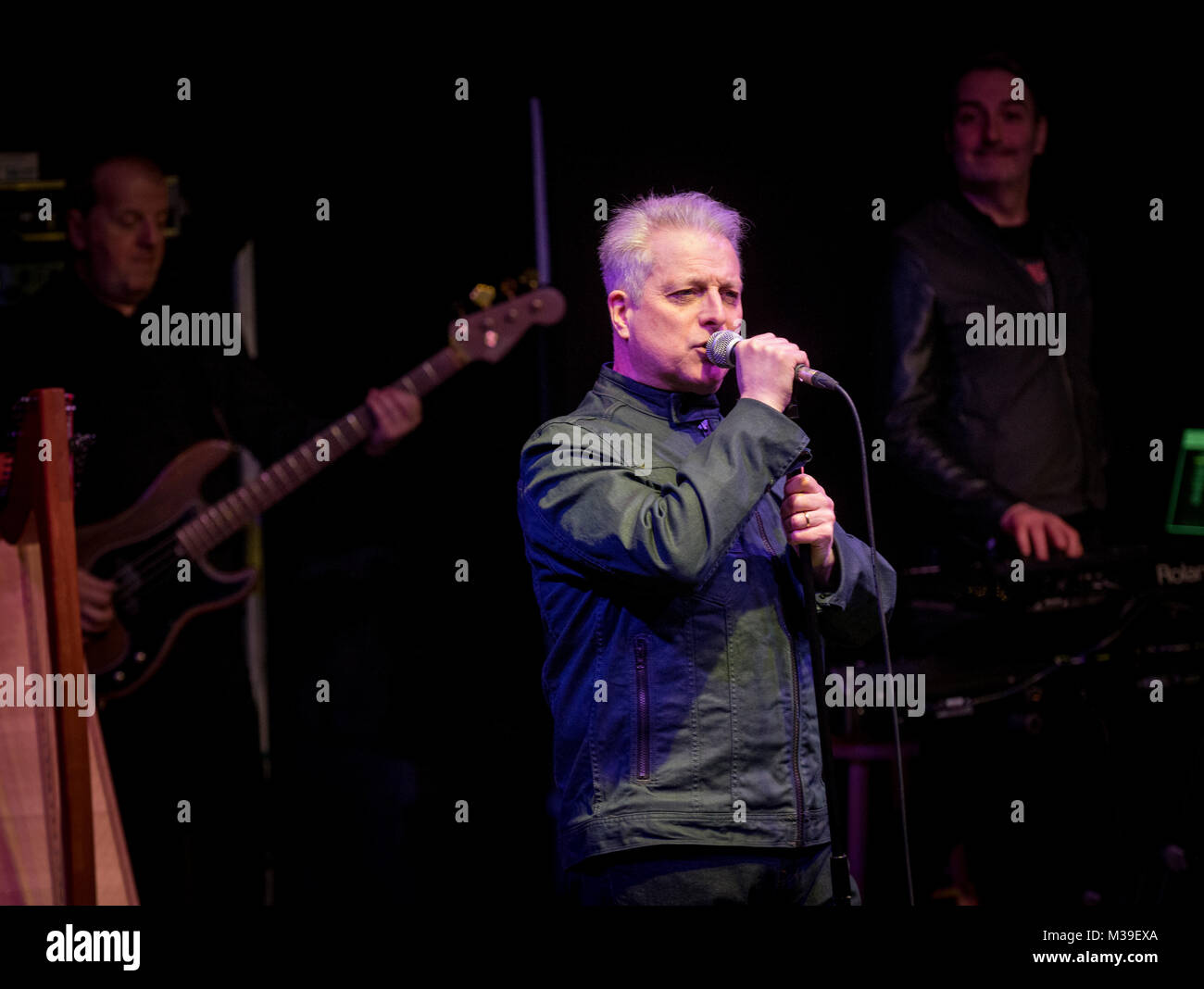 Ian Donaldson (80s band H20) back on stage after a long time to launch his new album at Websters Theatre  , Glasgow - Stock Image