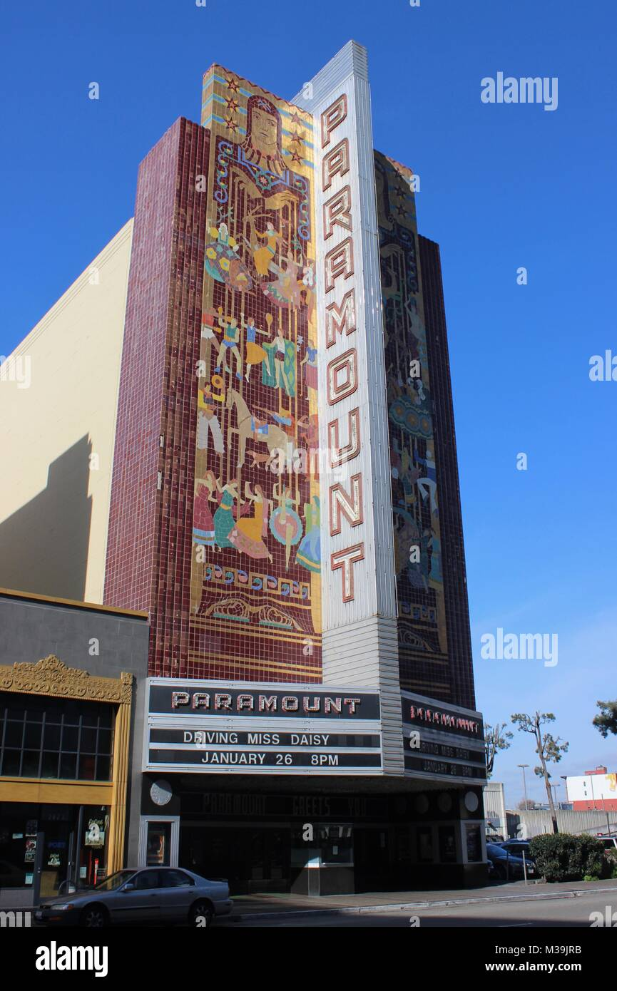 Paramount Theatre built 1930, Oakland, California - Stock Image