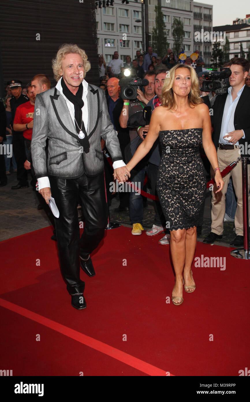 Thomas Gottschalk & Kim Fisher, Nacht der Legenden, Hamburg, 09.09.2012 - Stock Image
